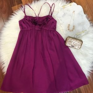 Londo Times Purple Ruffle Dress